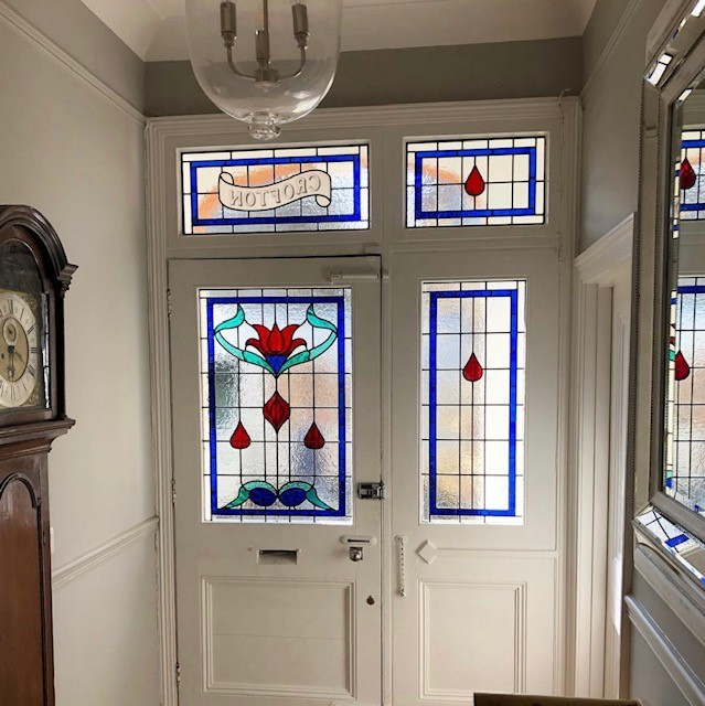 Stained And Leaded Glass Front Door Panels Crofton House