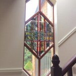 lead window stained glass stairwell