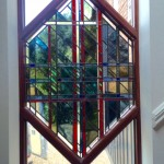 stained glass window red design